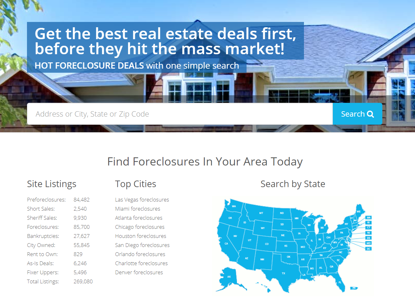 Search For Foreclosures