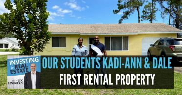Our Student's Kadi-Ann and Dale First Rental Property
